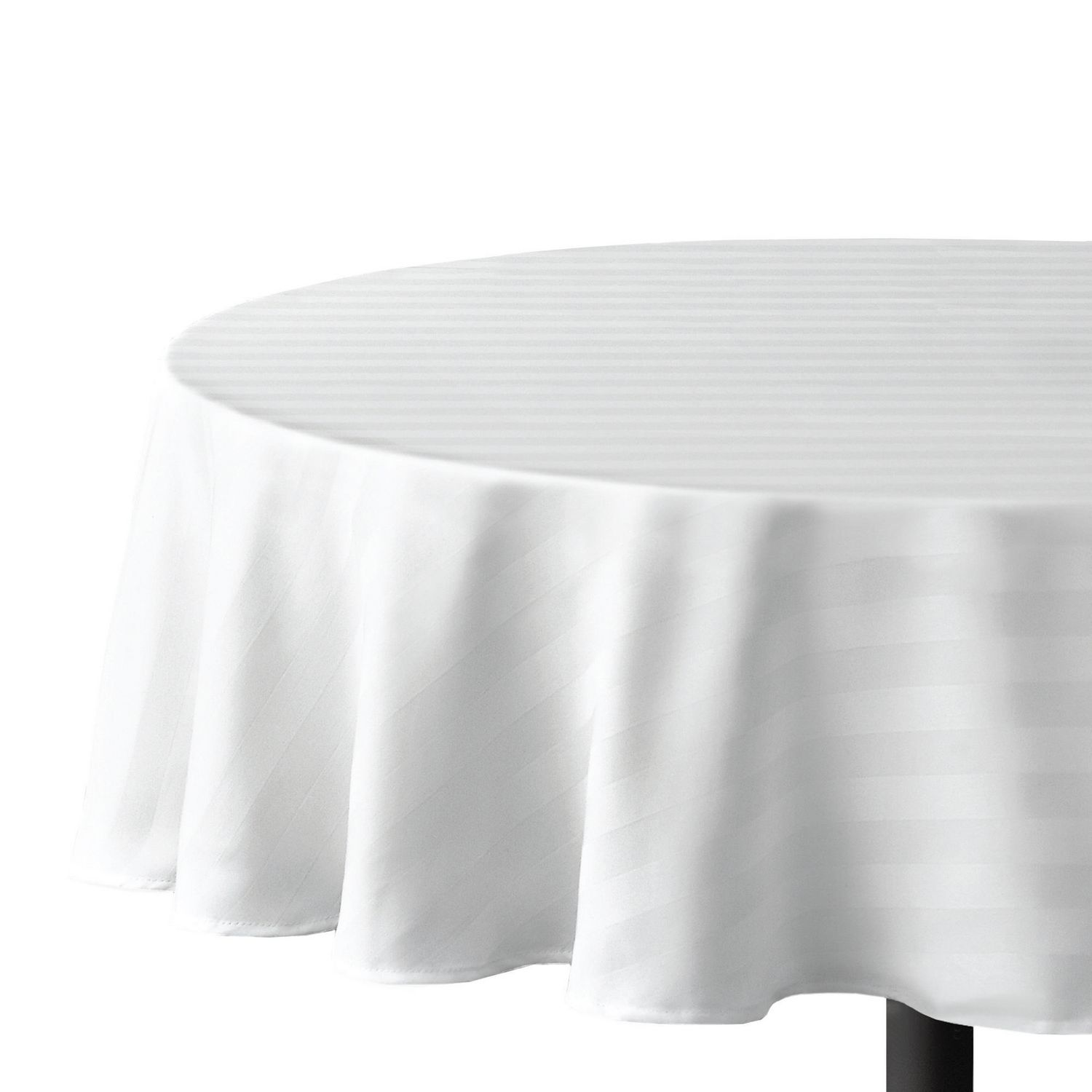 Nappe De Table Ronde Nappe De Table Ronde Rayée Hometrends En Microfibre