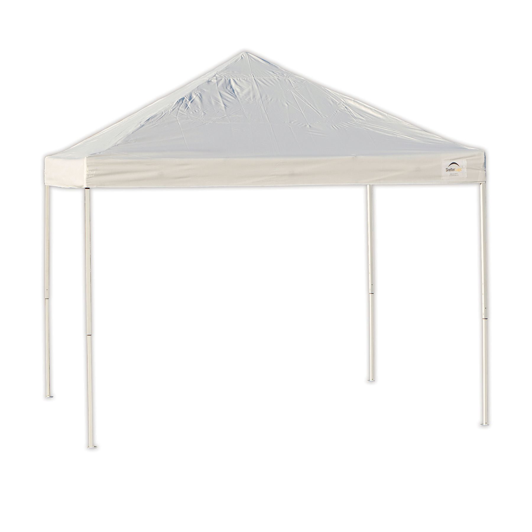 Pop Up Sun Shelter Canada Shelterlogic Pro 10 X 10 White Straight Leg Pop Up Canopy