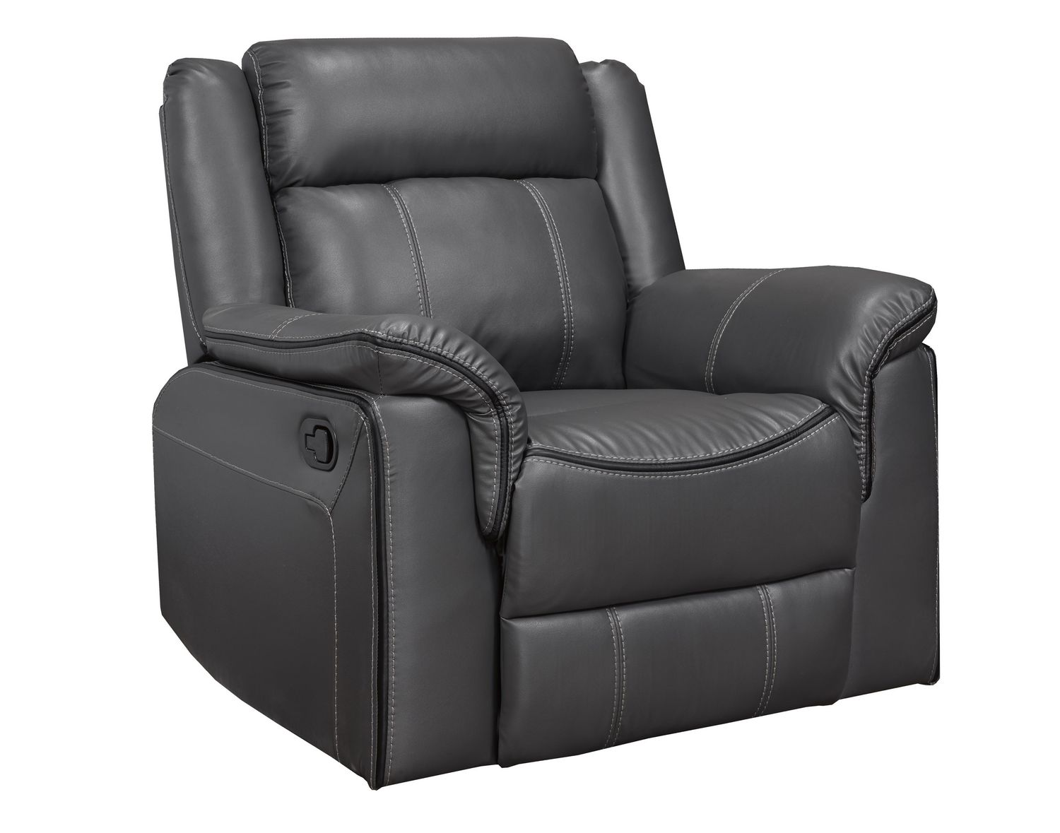 K Living Emma Leathaire Rocker Recliner Chair In Grey Walmart Canada