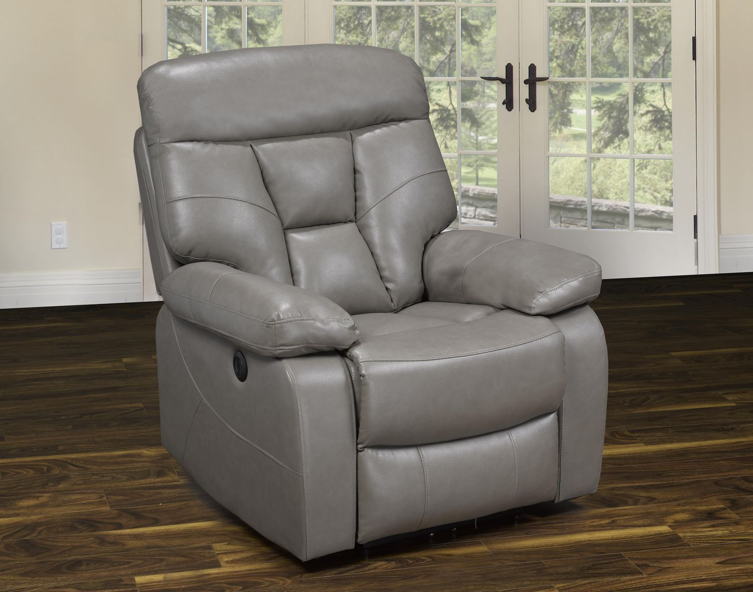 K Living Stanley Leatherair Power Recliner Chair In Sand Color Walmart Canada