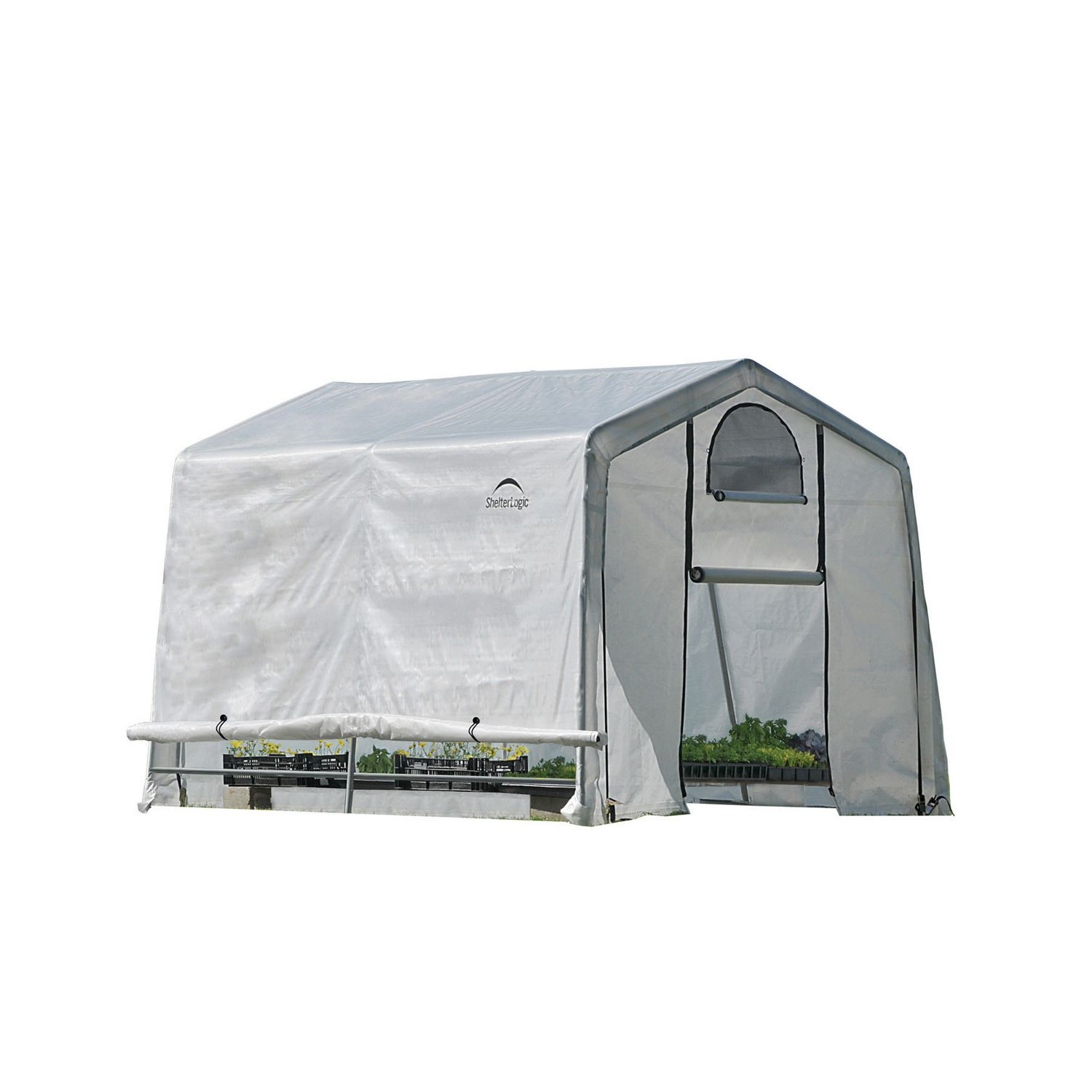 Serre 8x10 Growit Greenhouse In A Box Easy Flow Greenhouse Peak Style 10 Ft X 10 Ft X 8 Ft
