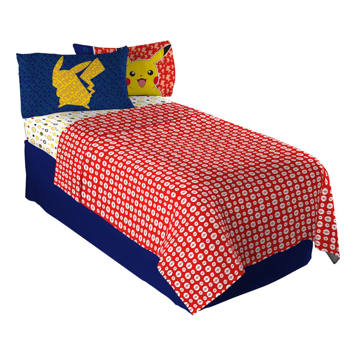 Fitted Sheet Canada Pokemon Pika Pika Pikachu Twin Single Sheet Set