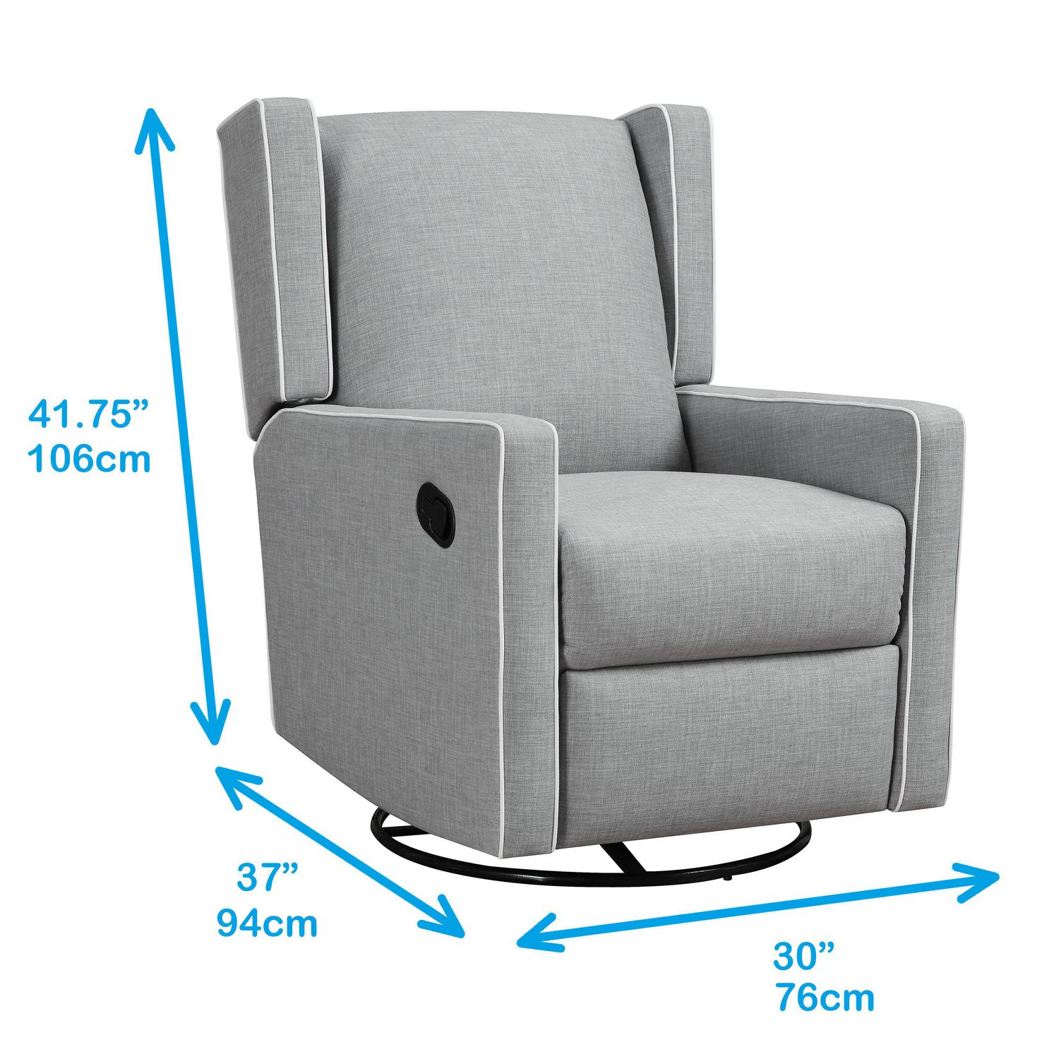 Fauteuil Inclinable Pivotant Baby Knightly Gris Walmart Canada