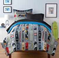 Mainstays Kids Skateboard Bed in a Bag Bedding Set ...
