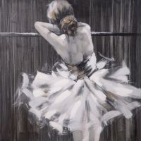 hometrends Ballerina Painted Canvas Wall Art | Walmart Canada