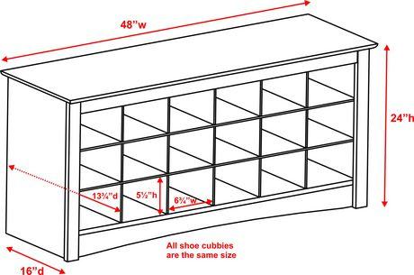Shoe Storage Cubbie Bench White Walmart Canada