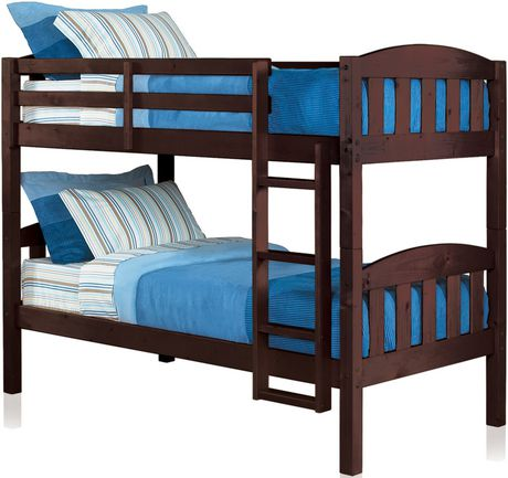 Mainstays Twin Twin Wood Bunk Bed Espresso Walmartca