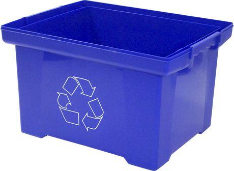 Recycling Bin Box Blue 35l Walmart Canada