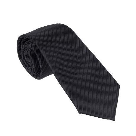 George Men\u0027s Textured Solid Skinny Black Tie Walmart Canada