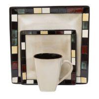hometrends Mosaic Tile 16 Piece Dinnerware Set | Walmart.ca