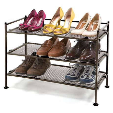 Seville Classics 3 Tier Bronze Utility Shoe Rack Walmart