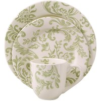 Better Homes and Gardens Floral Damask 16-Piece Dinnerware ...