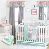 The Peanut Shell 4 Piece Baby Girl Crib Bedding Set