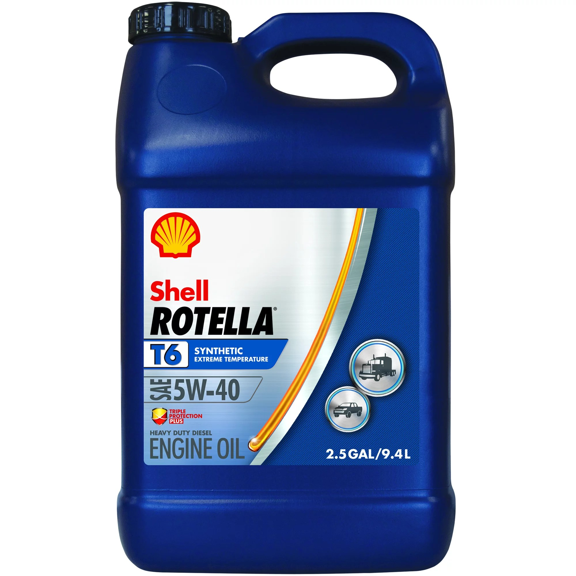 5 W 40 Rotella T6 5w 40 Full Synthetic Heavy Duty Engine Oil 2 5 Gal