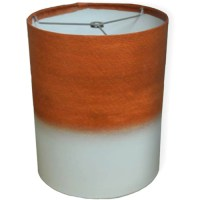 "10"" Drum Lamp Shade, Orange Watercolor - Walmart.com"
