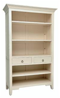 Wooden Bookcase in Light Distressed Linen Finish - Walmart.com