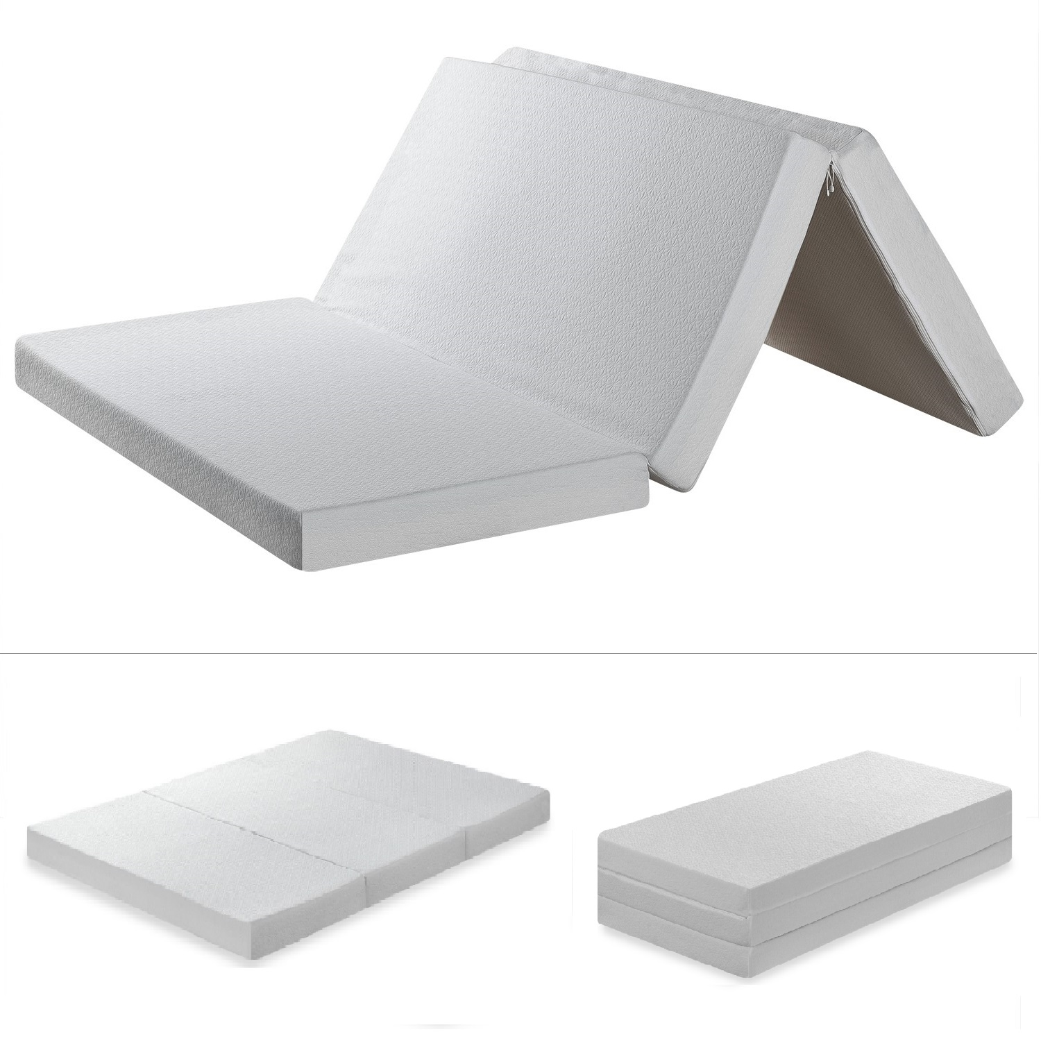 Foldable Foam Mattress Best Price Mattress 4 Inch Trifold Memory Foam Mattress Multiple Sizes