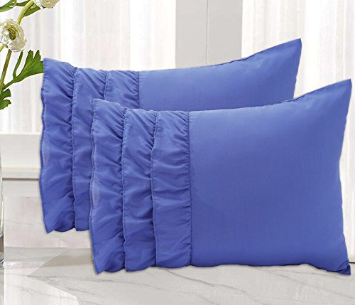 Empire Home Solid Ruffled Bed Pillow Cases Set Of Two 2