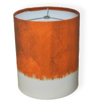 "10"" Drum Lamp Shade, Dark Orange Watercolor - Walmart.com"