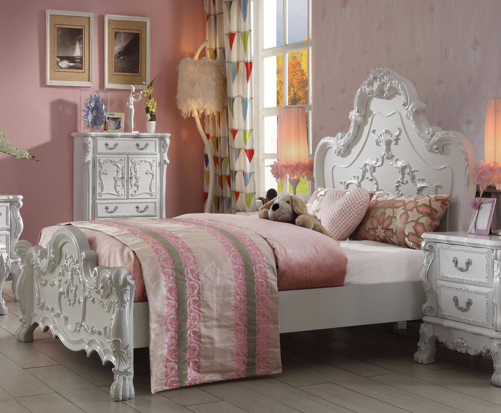 Kids Queen Bed Acme Furniture 30660q Dresden Kids Antique White Queen Bed Traditional