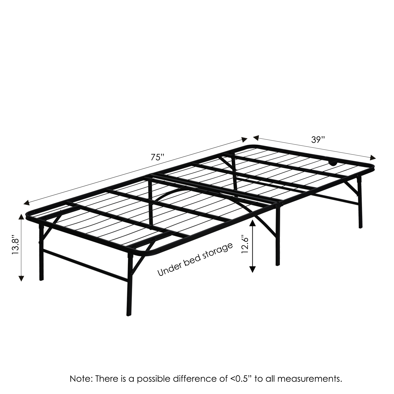 Mattress Platform Furinno Angeland Mattress Foundation Platform Metal Bed Frame Twin Fb001t