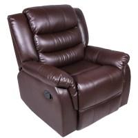 Harper&Bright Designs Recliner Rocking Sofa Chair PU ...
