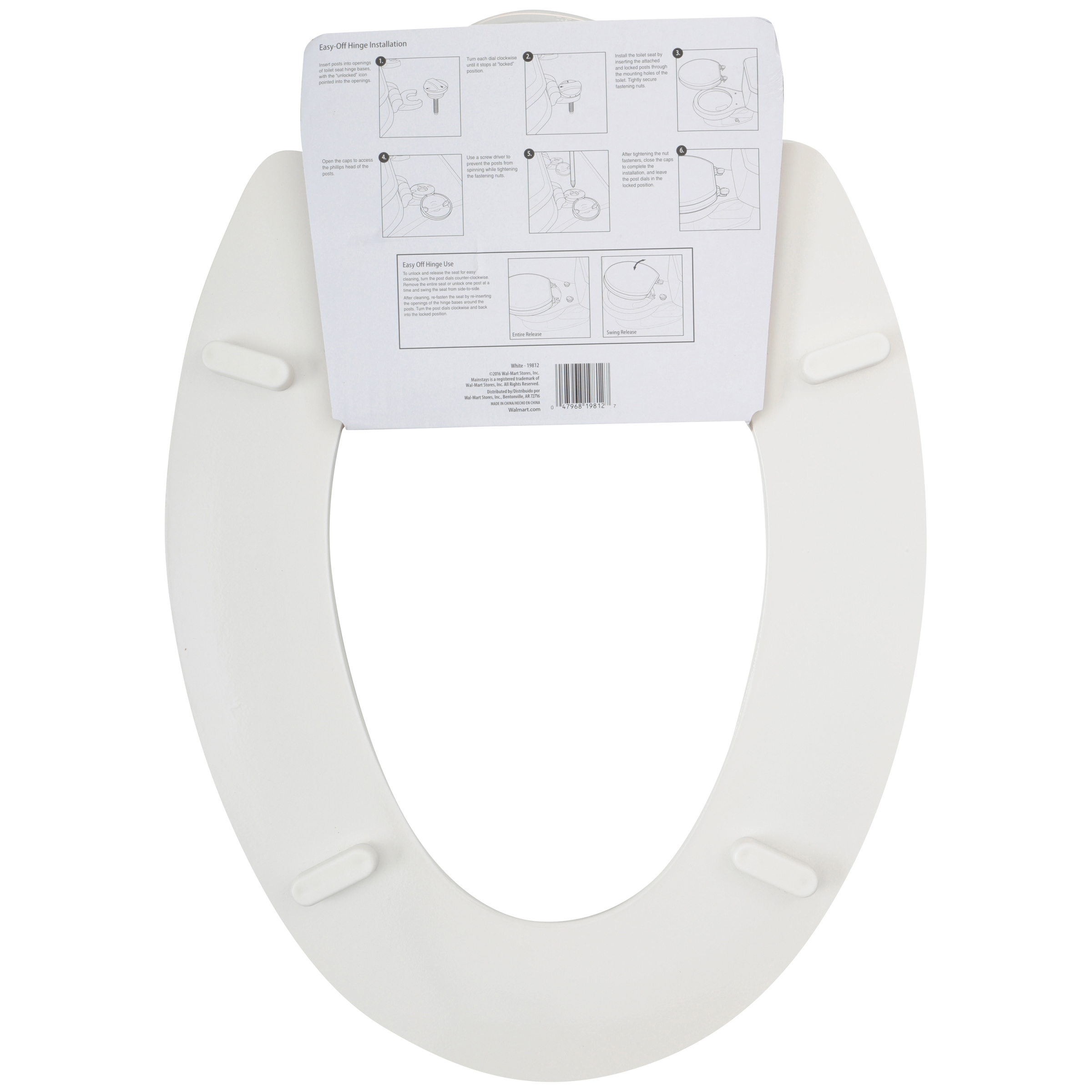 Install A Toilet Mainstays Molded Wood Toilet Seat