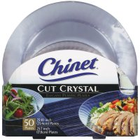 Chinet Cut Crystal Combo Plates 50 ct. 25 dinner plates ...