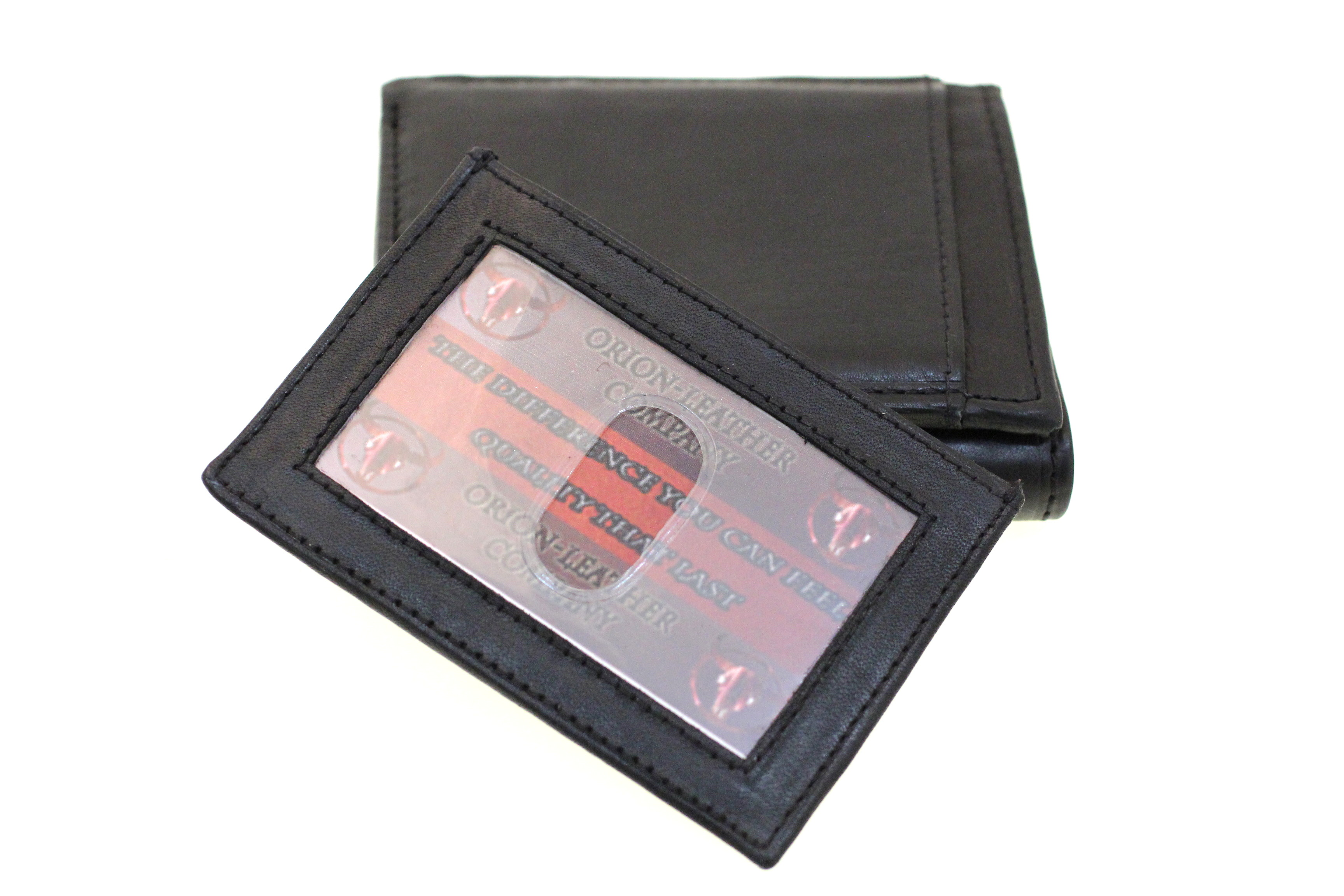 Men Genuine Leather Trifold Wallet Pull Out Id Cover Card