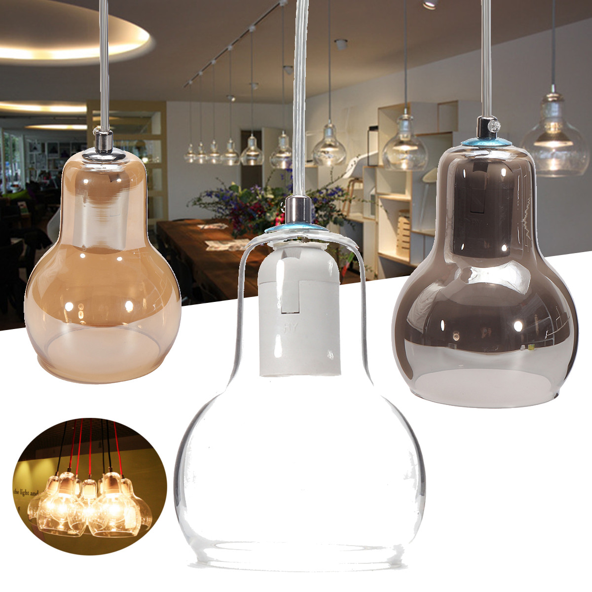 Glass Jar Lamp Shade Meigar Vintage Industrial Lighting Shade Pendant Lamp Shade