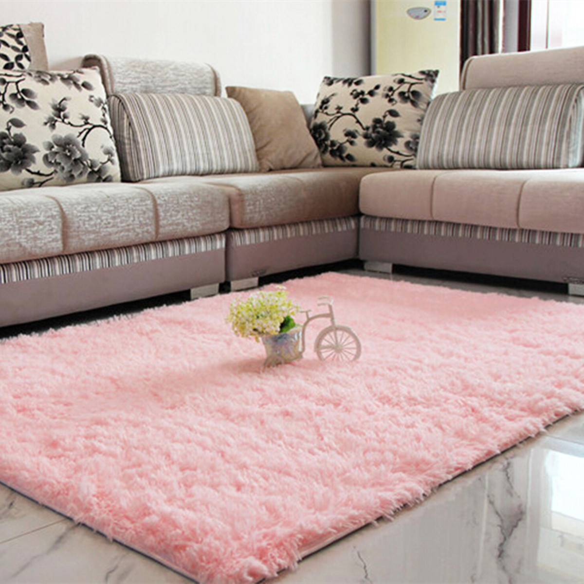 Dining Room Carpet Fluffy Floor Rug Anti Skid Shaggy Area Rug Dining Room Carpet Yoga Bedroom Floor Mat Cover Child Play Mat 48x32inch 80cm X 120cm