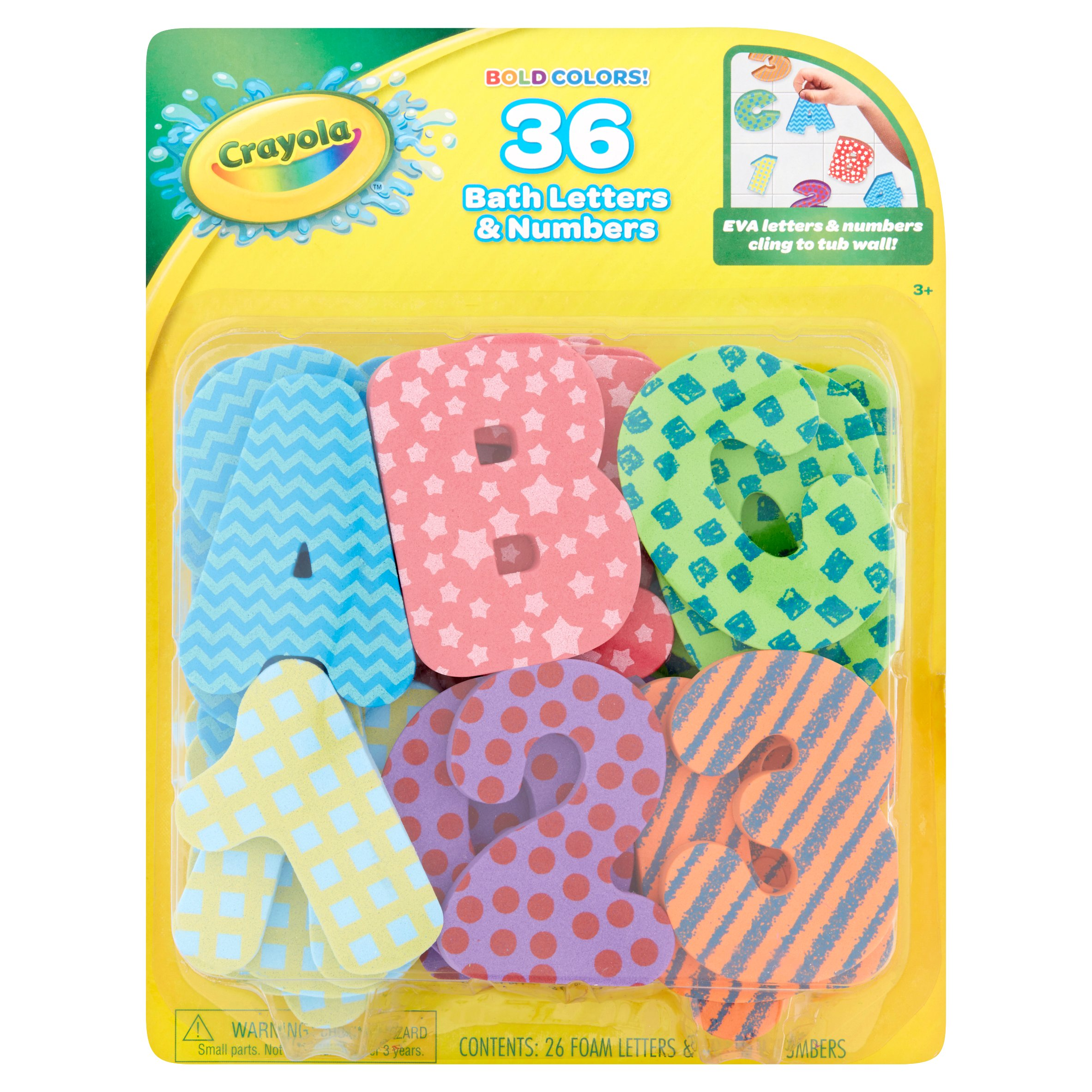 Crayola Bold Colors Bath Letters Numbers Age 3 36