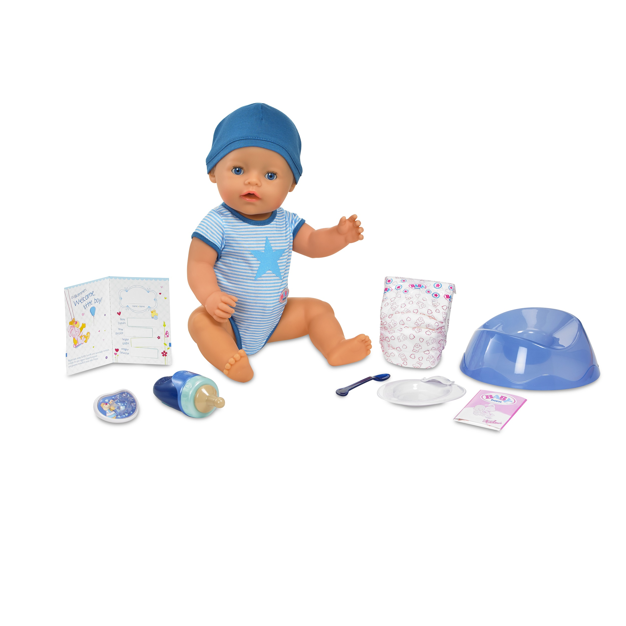 Baby Größe Gewicht Baby Born Interactive Boy Doll Blue Eyes