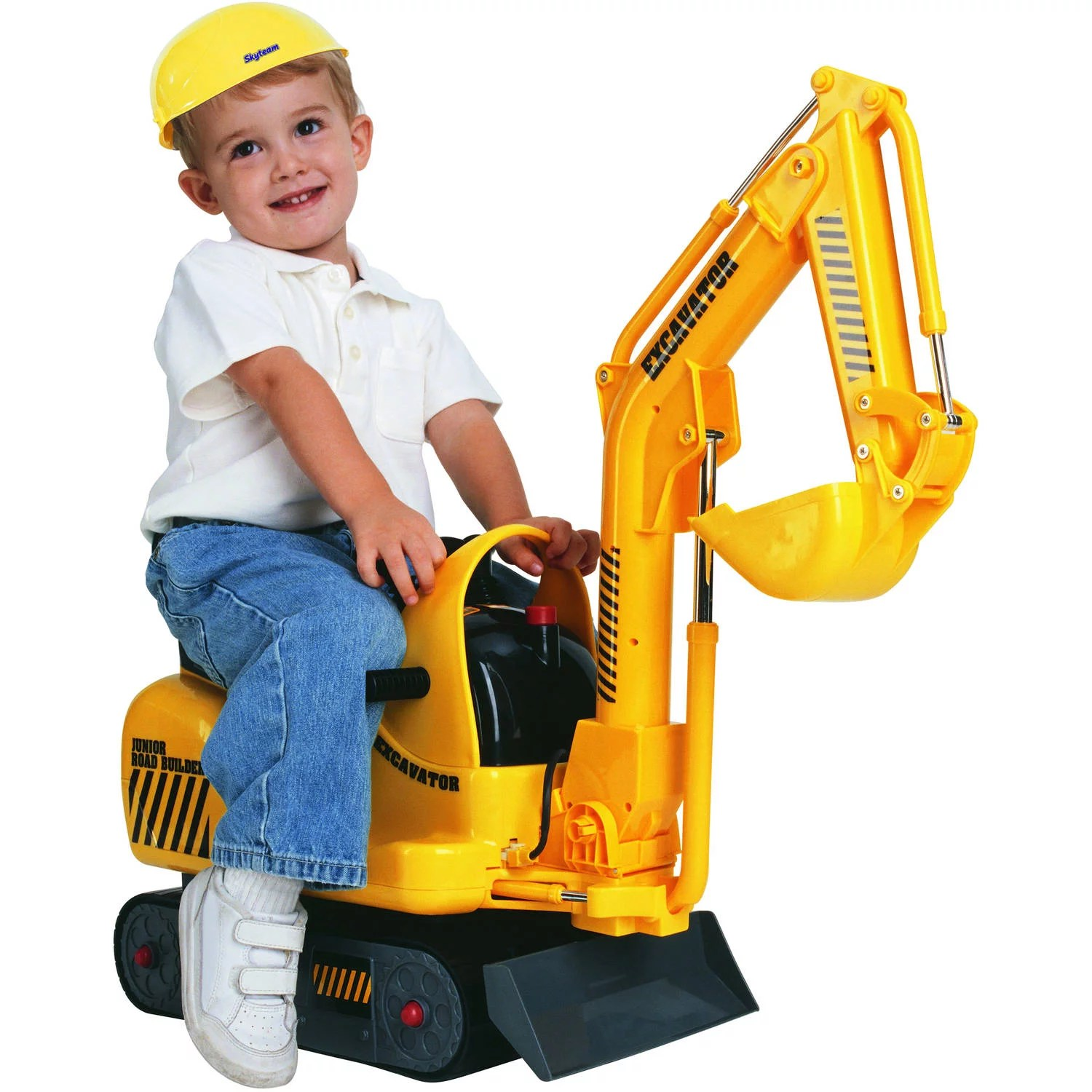 Digger Toy Details About Kids Excavator Ride On Construction Toddler Boys Battery Power Digger Truck Toy