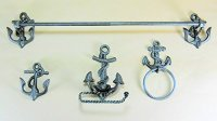 Nautical Anchor Bathroom Accessory Set by COI - Walmart.com