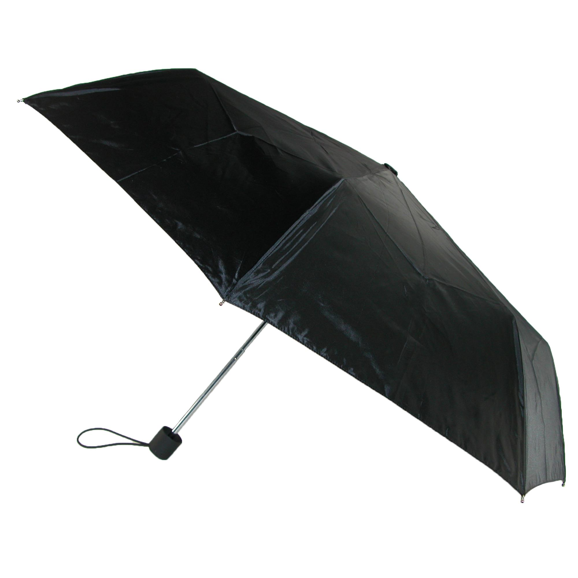 Compact Travel Umbrella Walmart Totes Size One Size Basic Manual Open And Close Solid