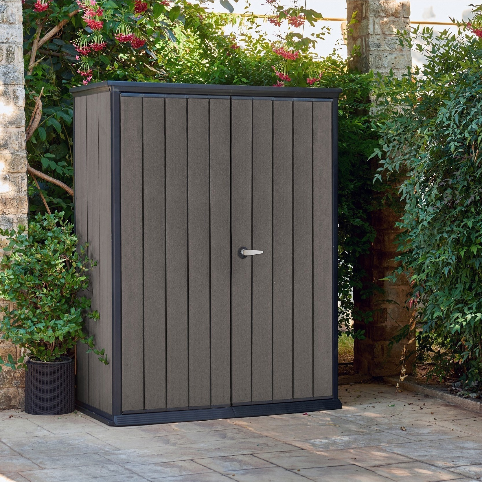 Keter High Store Keter High Store Resin Wood Look And Feel Outdoor Garden Storage Shed