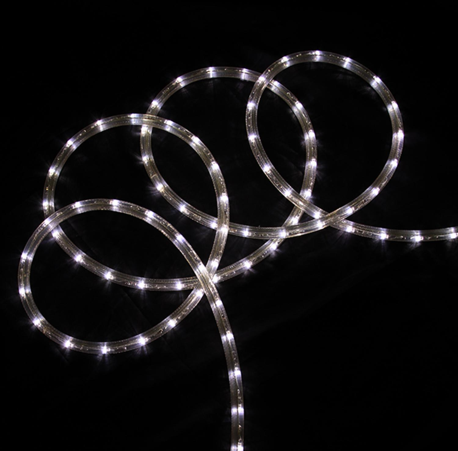 Led Lights At Walmart Northlight 18 Ft Pure White Led Indoor Outdoor Christmas Rope Lights