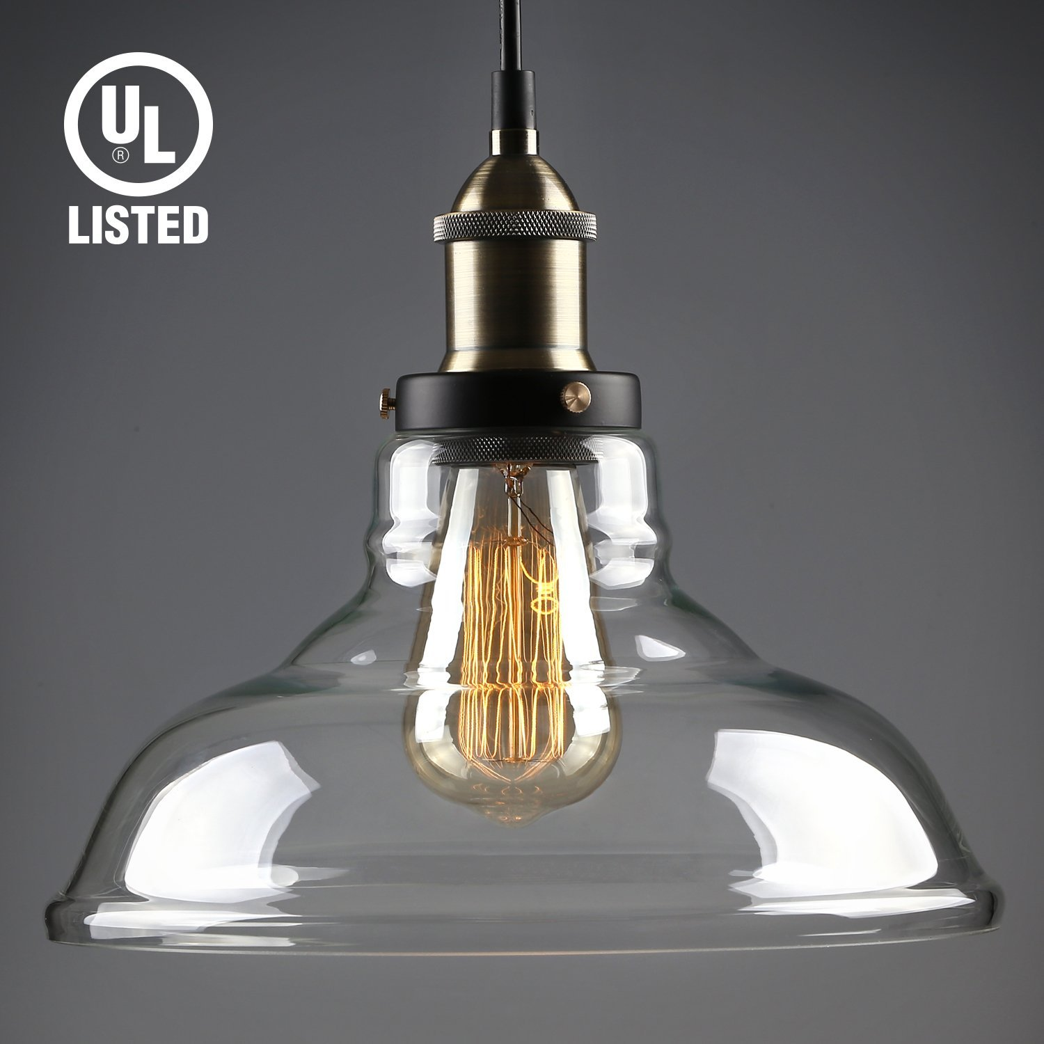Pendant Lighting Leonlite Industrial Glass Pendant Lighting For Kitchen Led Ceiling Lights