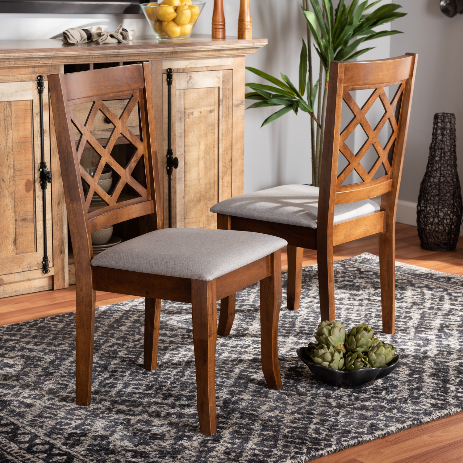 Baxton Studio Verner Modern And Contemporary Grey Walmart Com Walmart Com