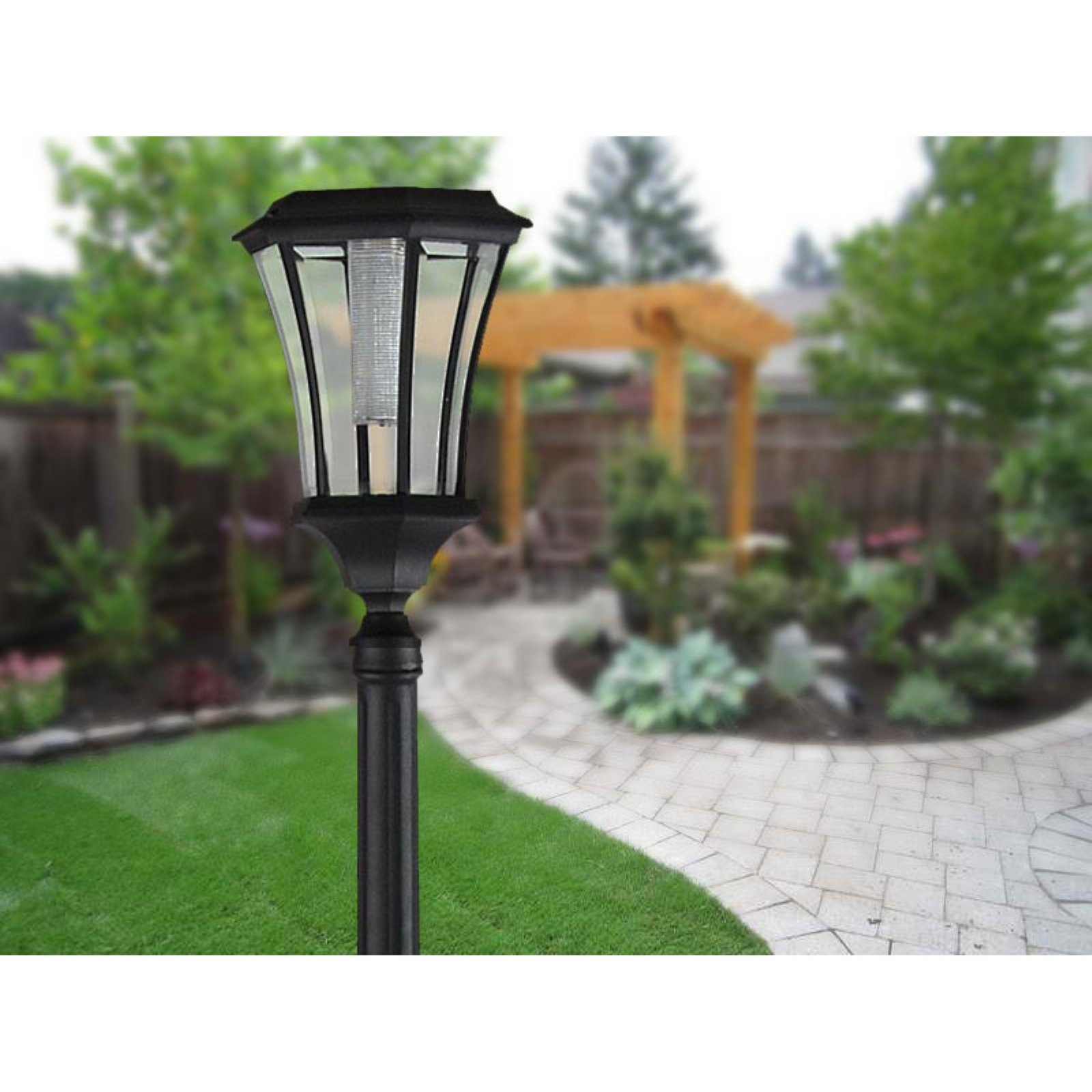 Solar Lamp Post Sun Ray Abigail Solar Lamp Post And Planter