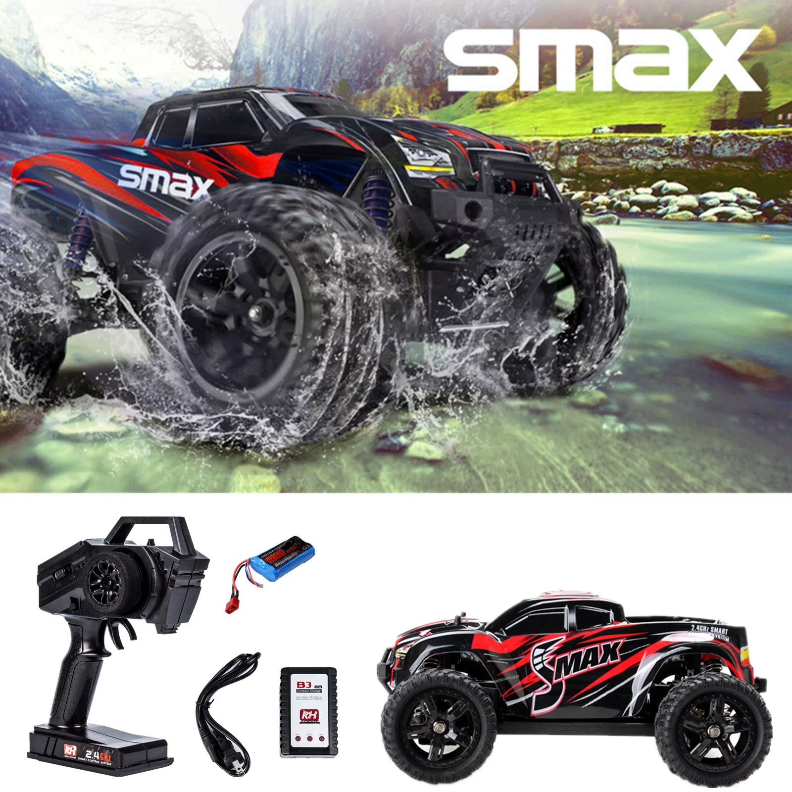 Car Rc Remo Hobby 4wd Rc Brushed Car 1631 1 16 Scale Off Road Short Haul Monster Truck