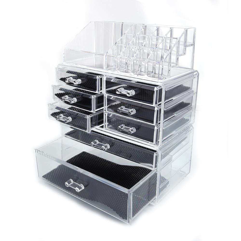 Cosmetic Table Ktaxon Acrylic Cosmetic Table Organizer Makeup Holder Case Box