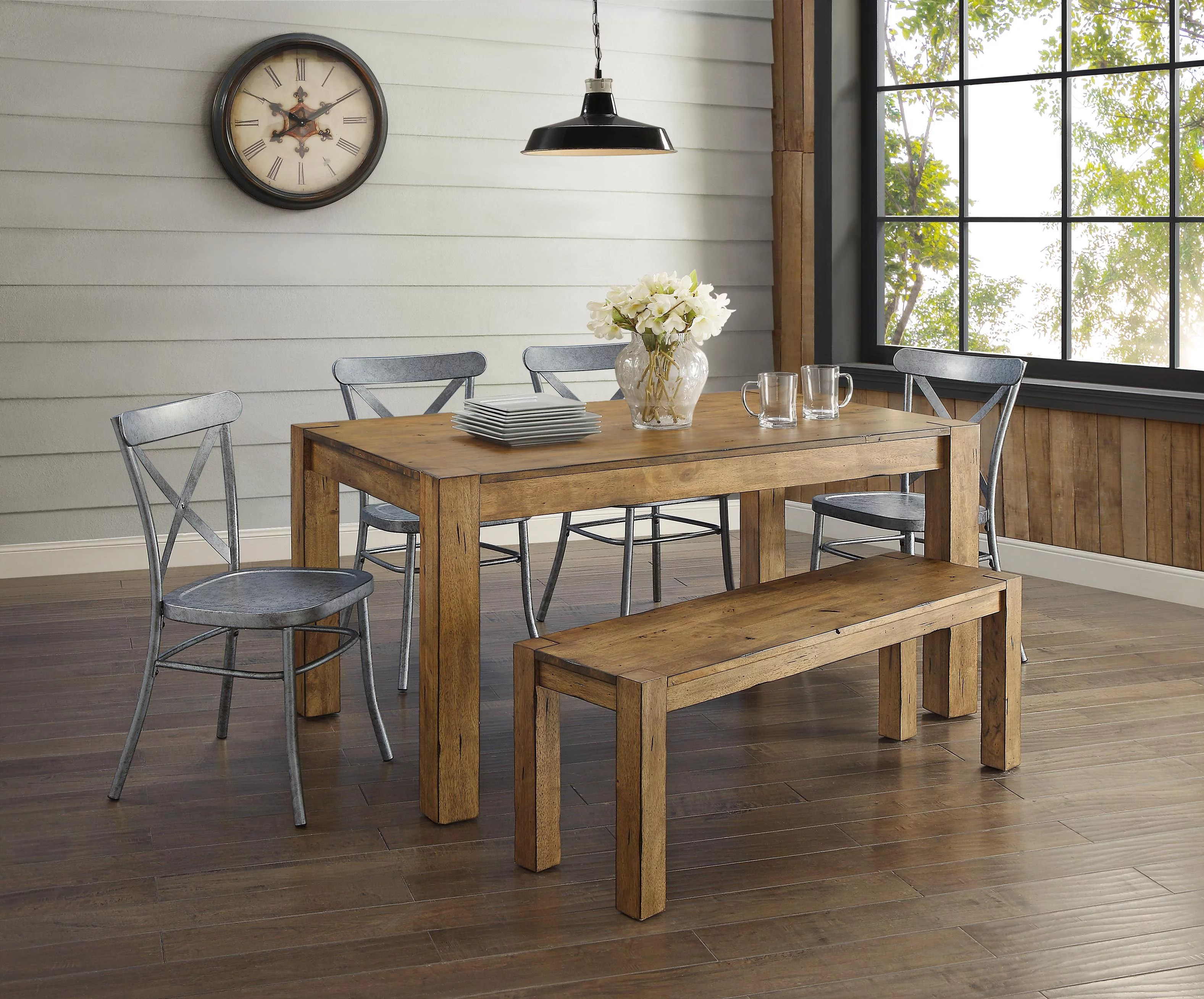 Dining Room Furniture Rustic Better Homes And Gardens Bryant 3 Piece Dining Set Rustic Wood Walmart