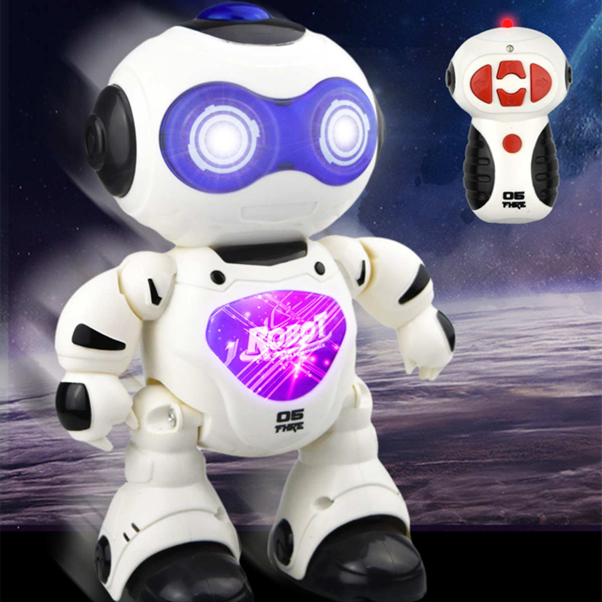 Children Robot Electronic Rc Remote Control Robot Smart Action Walk Dancing Children Toys Gift