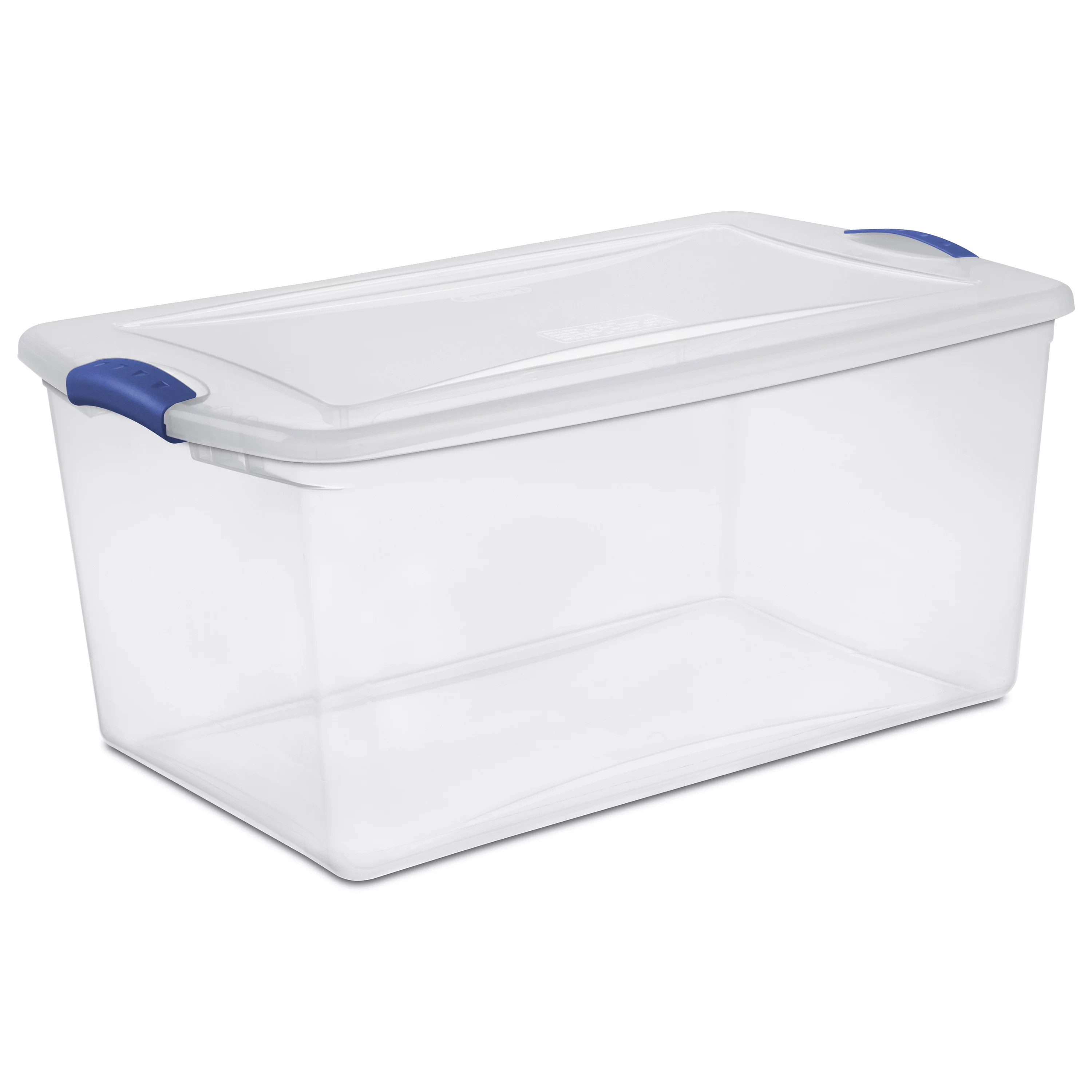 Bunnings Packing Boxes Large Plastic Storage Tote Container Clear Stackable Box 6