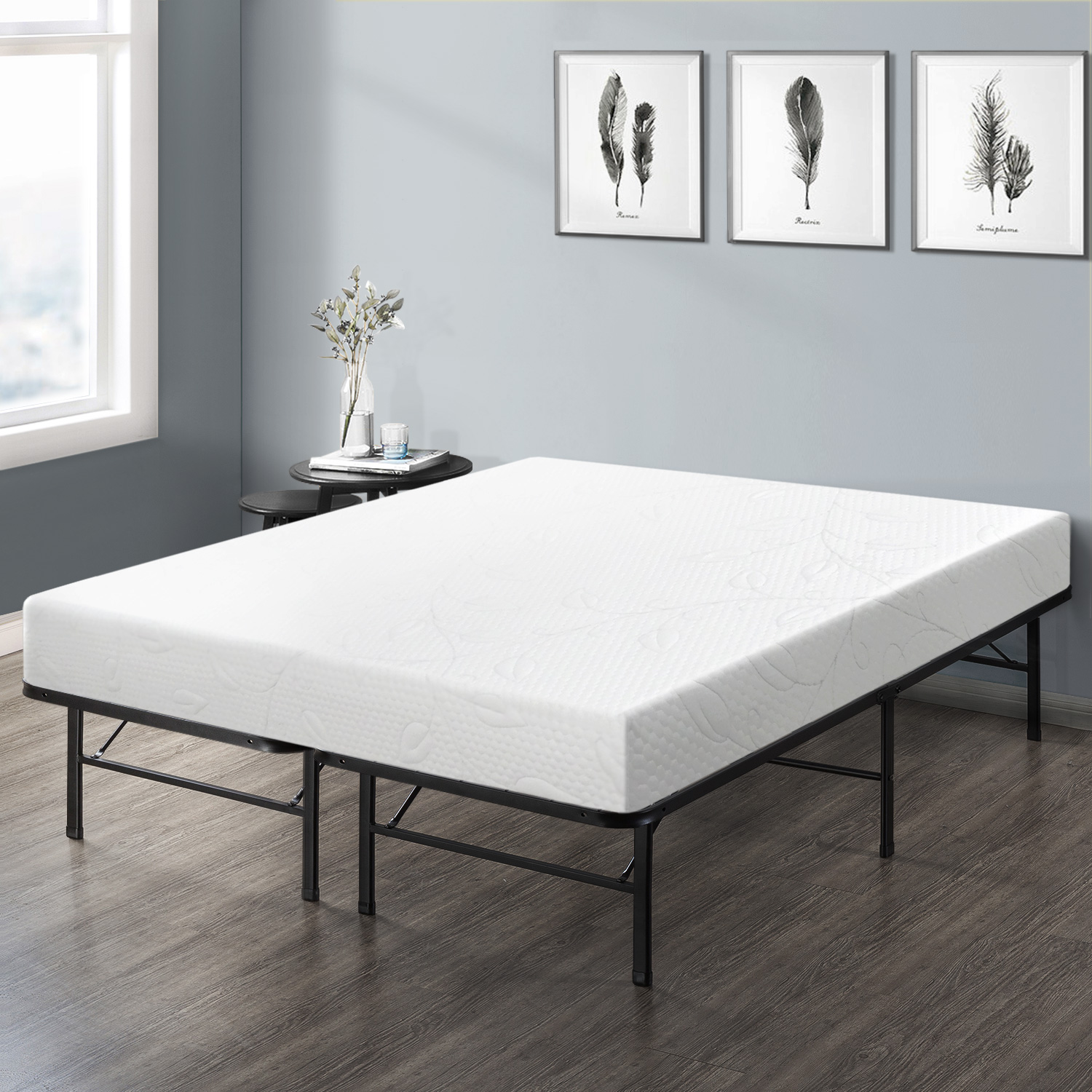 Mattress Platform Best Price Mattress 8 Inch Air Flow Memory Foam Mattress And 14 Inch Steel Platform Bed Frame Set Twin