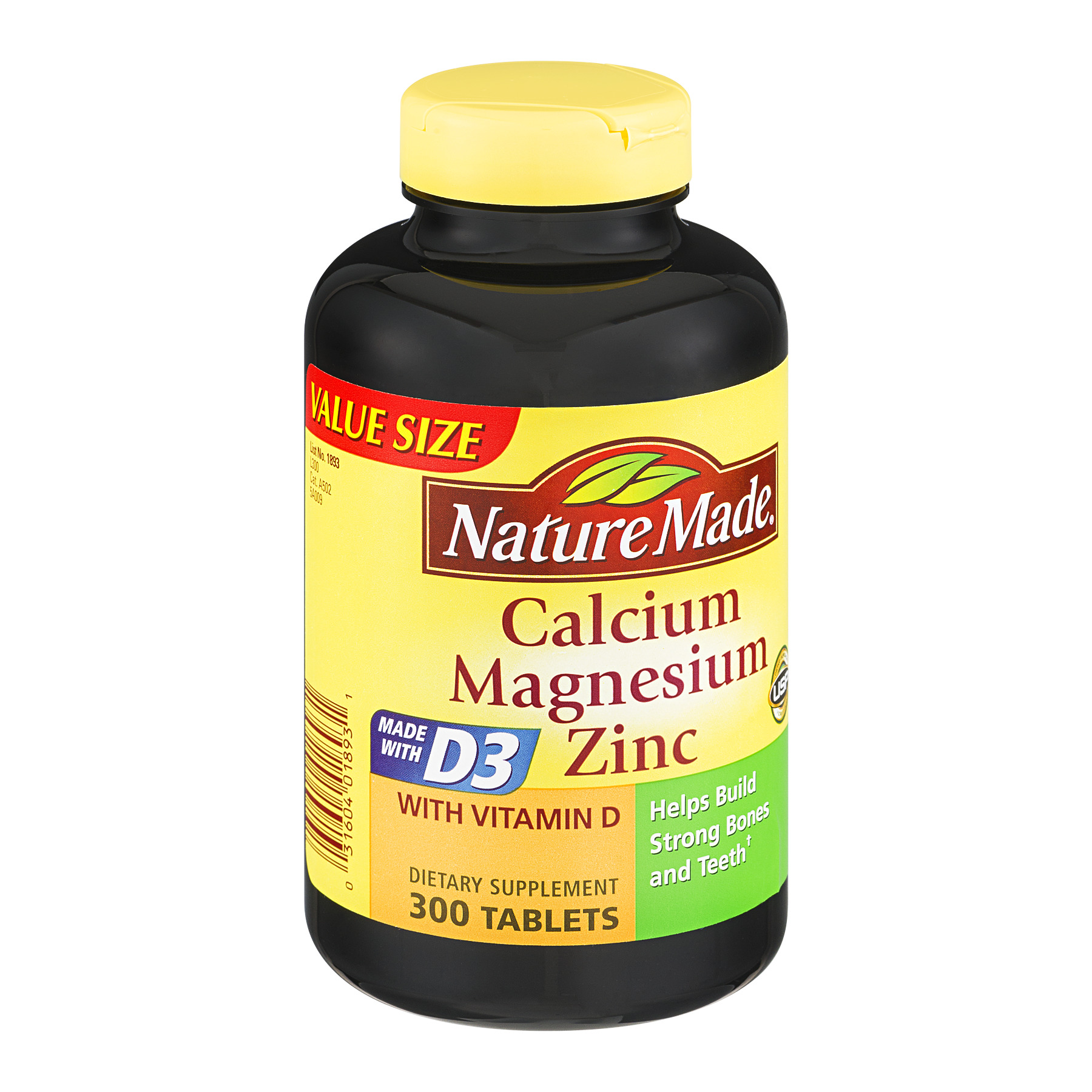 Calcium Tabletten Nature Made Calcium Magnesium Zinc Vitamin D Tablets 300 Ct