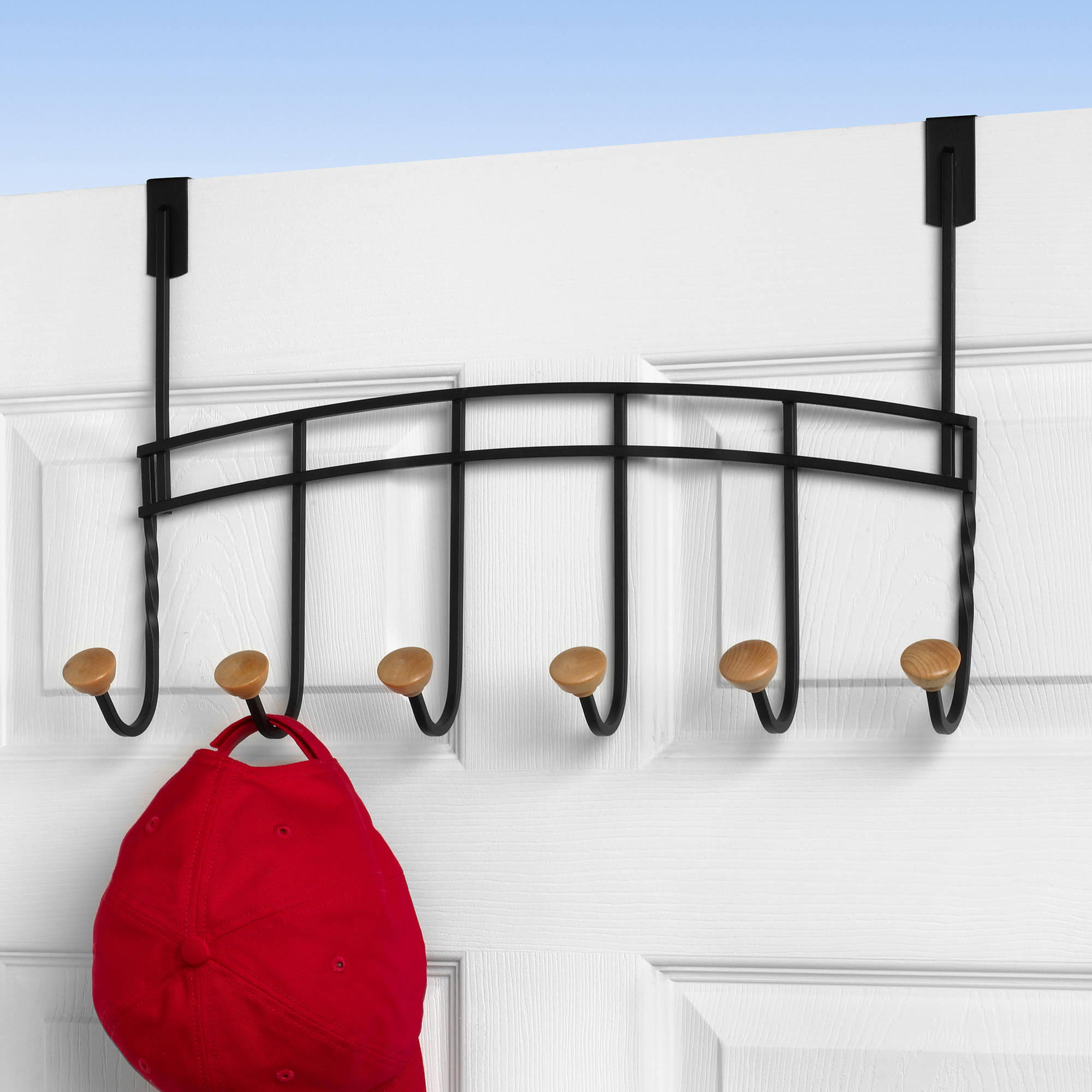 Hat Holders For Walls Burnished Bronze 10 Hook Wall Mounted Coat Hat Rack