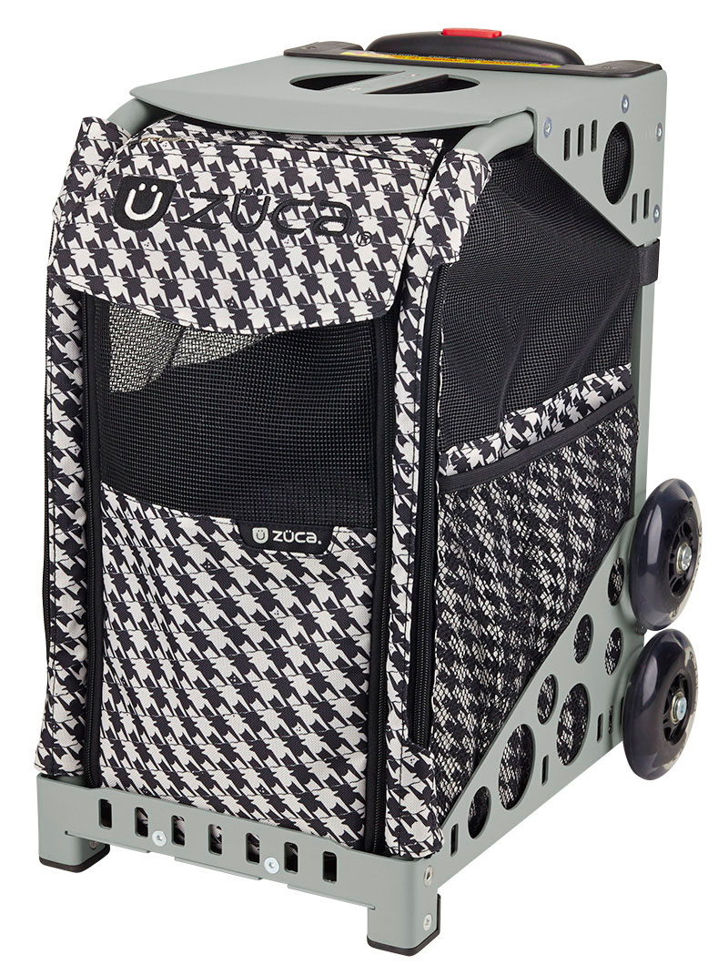 Zuca Pet Carrier Review Zuca Rolling Pet Carrier Houndstooth Black Bag With Gray